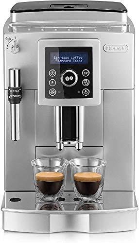 Delonghi Ecam 23.420.sb - Cafetera superautomática, 15 bares presión, depósito agua extraíble 1,8l, panel lcd, sistema cappuccino, dispensador de café ajustable, limpieza automática, plateado