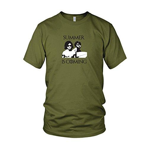 GoT: Summer is Coming - Herren T-Shirt, Größe: XXL, Farbe: Army (Feuer Und Eis Kostüm Set)