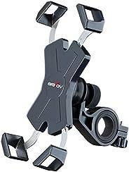 Grefay Fiets Telefoonhouder Metaal Automatisch Krimpen Motorfietshouder voor 4.5-7.0 inch Smartphone