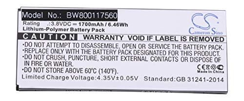vhbw Li-Polymer Akku 1700mAh (3.8V) für schnurlos Festnetz Telefon wie Cisco CP-BATT-8821, GP-S10-374192-010H Cisco Cp-batt