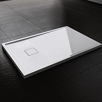 soho duschtasse aus mineralguss rechteckig 80x90 80x100 90x120 90x140 cm duschwanne ma e. Black Bedroom Furniture Sets. Home Design Ideas