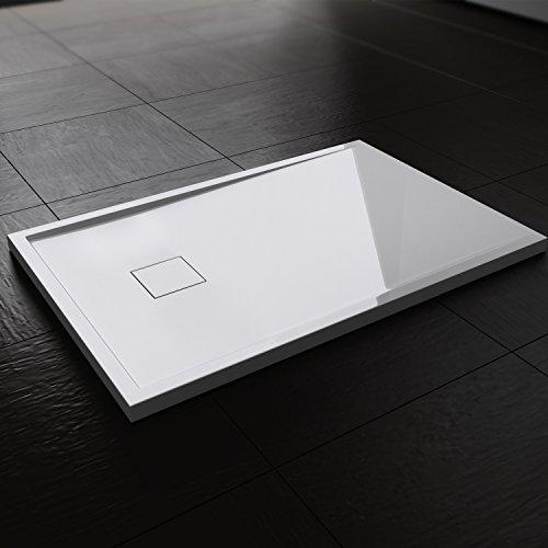 Preisvergleich Produktbild Duschwanne / Duschtasse   auch für bodengleiche / ebenerdige Dusche   80x120x4