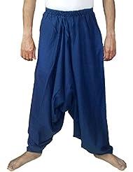 Sarjana Handicrafts Hombres del algodón Harem Pantalones Genie Baggy pantalones