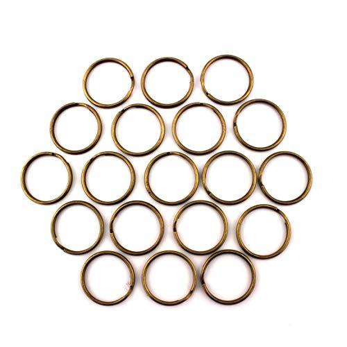 RUBY - Anillas para Llaves, Color Metal/Bronce. Envio urgente Gratis