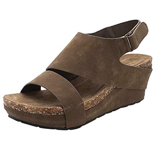 VICGREY ❤ Sandali con Zeppa Donna Estivi Comode Platform Sandalo Eleganti Plateau Scarpe con Tacco Bocca di Pesce Scarpe da Sposa Donna Eleganti Peep Toe Sandali da Spiaggia Mare