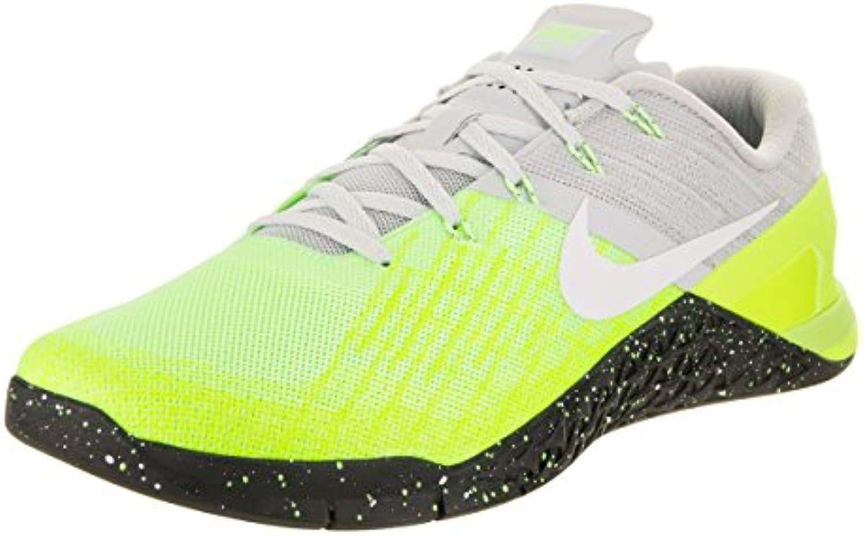 Nike Metcon 3 – Zapatillas de Gimnasia, Neongelb/Grau, 39