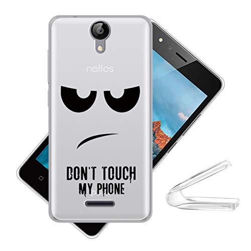 HYMY Hülle für TP-Link Neffos C5A Weiß Durchscheinend Case - Schutzhülle Weich TPU Handytasche Handyhülle Silikon Handyfall für TP-Link Neffos C5A (5.0