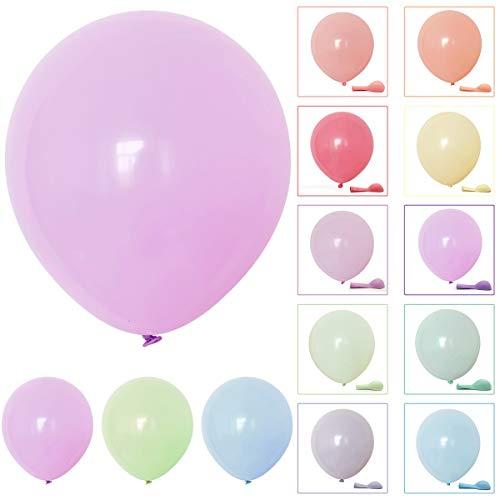 Puseky 100 stücke 10 zoll Runde Macaron Candy Latex Mischfarbe Ballon für Hochzeitsfest Familie Party Geburtstag Dekorationen (Color : Mixed Color, Size : 10inch)