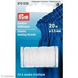 Prym Elastik-Nähgarn, 0,5mm, 20m, weiß