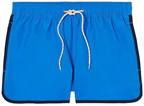FIND Herren Kurze Badeshorts mit Kontrast-Saum Blau (Blue/Navy)
