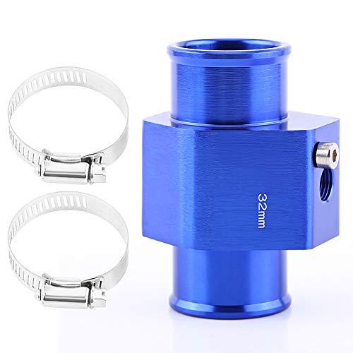VGEBY Auto Wasser Temp Temperatur Gemeinsame Rohr Sensor Aluminum Kühlerschlauch Adapter 26-40MM Blau ( Abmessung : 32MM )