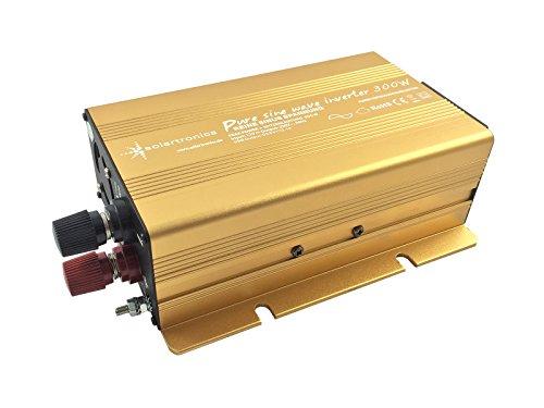 Preisvergleich Produktbild Spannungswandler 12V 300 bis 3000 Watt reiner SINUS mit echtem Power USB 2.1A Gold Edition (300 Watt)
