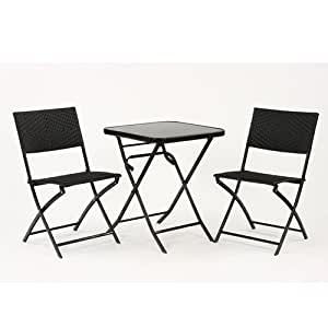 salon de jardin ensemble terrasse 1 table pliante avec. Black Bedroom Furniture Sets. Home Design Ideas