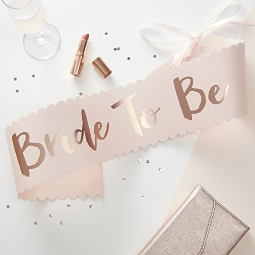Ginger Ray Rosa & Rose Gold Classy Designer Schärpe Bride To Be – Team Braut