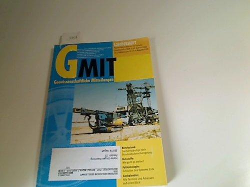 Geowissenschaftliche Mitteilungen GMit. Heft 75, 4. Quartal 2000 (2000 Quartal)