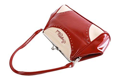 SugarShock ROSA 30er retro Budapester Kisslock Tasche Rockabilly Handtasche