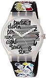 Swatch Unisex Erwachsene Analog Quarz Uhr mit Silikon Armband SUOW157