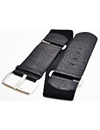 Damen Gürtel Leder Stretch Taillengürtel Hüftgürtel One Size Nieten PH-8693