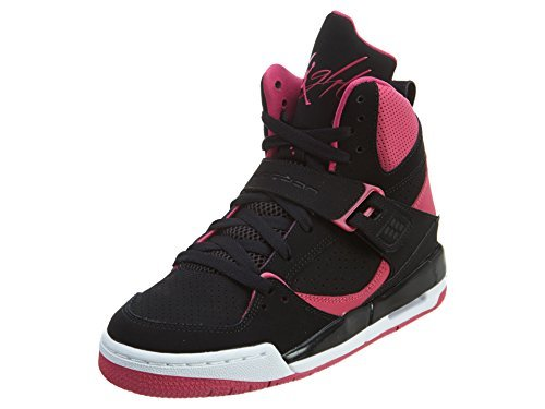 Nike Damen Jordan Flight 45 High IP GG Basketballschuhe, Black (Schwarz / Vivid Rosa-Rosa-Weiß Vivid), 42.5 EU Rosa, Weiße Und Schwarze Jordans