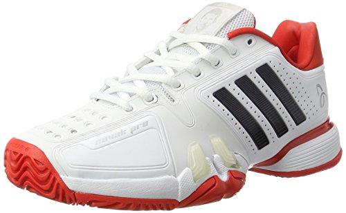 adidas Herren Novak Pro Tennisschuhe, Weiß (Footwear White/Collegiate Navy/Core Red), 42 EU