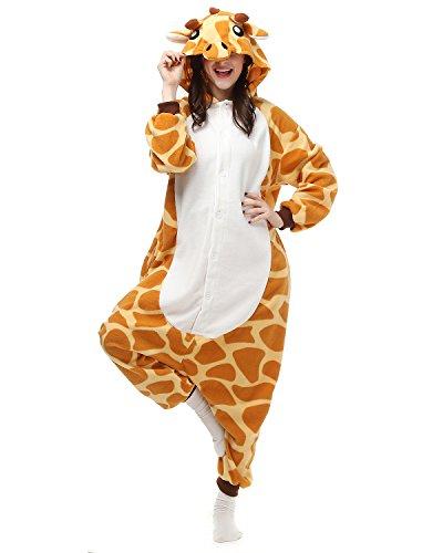 Kostüm Giraffe Mann - Tier Onesie Kostüme Kigurumi Giraffe Pyjama Schlafanzug Erwachsene Unisex Mann Dame Cosplay Jumpsuit Onesie L