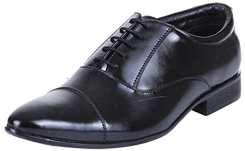 Royal Kurta Tag 7 Men's Synthetic Oxford Shoes 10 Black -
