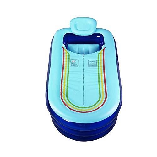 XITER Faltwanne Übergroße verlängerte aufblasbare Wanne Erwachsener Verdickter Schlauch Plastikbadewanne (Farbe : Blue)
