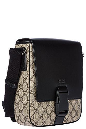 e42fc1867c6 Gucci men s leather cross-body messenger shoulder bag black – HD ...
