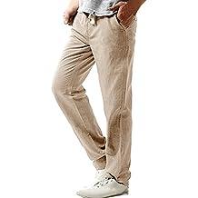 67f808f748 Amazon.es  pantalones de lino para hombre