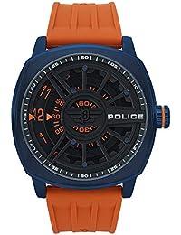 382ed7e0e2ce Police Speed Head Reloj para Hombre Analógico de Cuarzo con Brazalete de  Silicona R1451290004