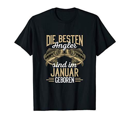Besten Angler sind im Januar geboren Angler Geburtstags T-Shirt