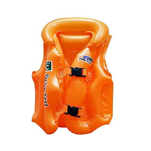 EZ Life Inflatable Body Vest Float for Swimming - Orange - Small - 1 Pc