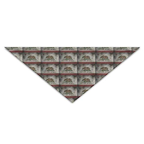 Pet Bandanas Niedlicher Bundesstaat Kalifornien State FlagDog Geburtstag Haustier Bandana Halsbänder für Hunde und Katzen