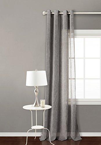 PimpamTex – Rideau Translucide 140x260 cm, avec 8 œillets pour le salon et la chambre à coucher, Modèle Matilda – Gris