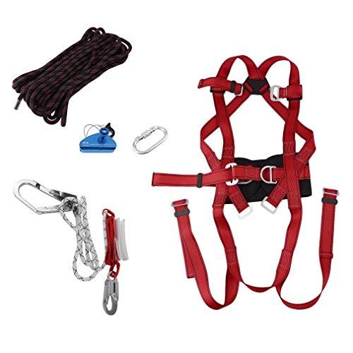 Funnyrunstore 5 in 1 Outdoor Safe Arrampicata Tecnica Alpinismo Alpinismo Imbracatura Rappel Rescue Safety Belt Kit