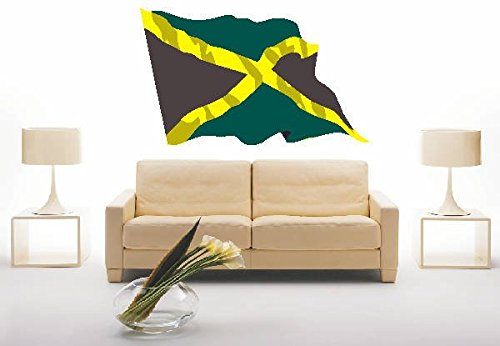 INDIGOS UG - Wandtattoo Wandsticker Wandaufkleber Aufkleber ls76 Jamaica - Jamaika 180 cm farbig bunt als Fahne