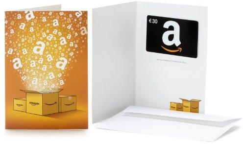 Carte cadeau Amazon.fr - €30 - Dans une carte de vœux d'occasion  Livré partout en Belgique