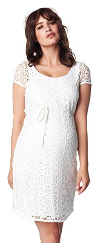 Noppies Damen Umstandsmode Kleid Dress woven ss Elise Hochzeitskleid 60239 (XS, creme (off white))
