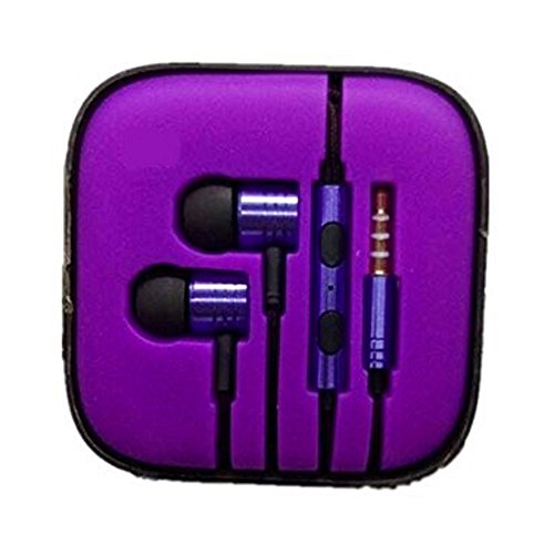 Price comparison product image earphone Supreme Quality iPad 4,iPad Mini,ipad air,iphone 6, and iphone 5 Headphones / Earphones With Microphone Mic and Volume Control Remote PURPLE