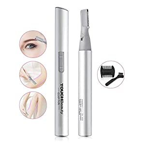TOUCHBeauty Electric Eyebrow Trimmer, Eyebrow Hair Remover, Painless Facial Hair Trimmer for Women, Portable Ladies Shaver AG-815S