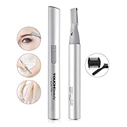 TOUCHBeauty AG-815S waterproof eyebrow trimmer - professional precision trimmer for the removal of eyebrow hair, noses, ears and facial hair (silver)