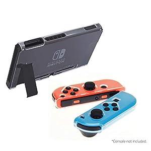 iMW Durchsichtige Schutzhülle für Nintendo Switch, zum Andocken