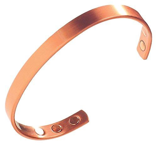 Qualitäts Kupfer Magnetarmband - Kupferarmreif 6 Starken Magneten - Damen Herren - Earth Therapy