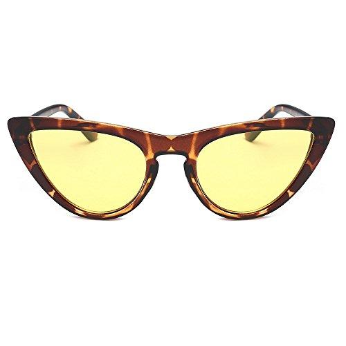 Trada Damenbrillen, Frauen Vintage Film Objektiv Katzenaugen Acetat Kleine Rahmen Shades Acetat Rahmen UV Gläser Sonnenbrille Damen Eyewear Women Sunglasses Cateye Brille (C)