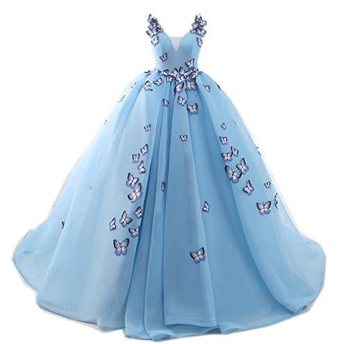 Engerla Damen Kleid Gr. 36, blau