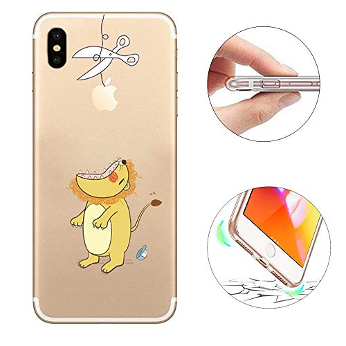 KeKeYM iPhone XS Hülle, iPhone 10 Case Cover, Soft TPU Gel Rubber Skin Painted Muster Ultra Lightweight Transparent Stoßfänger Clear Hülle für iPhone XS iPhone X 5.8 Zoll - Seelöwe