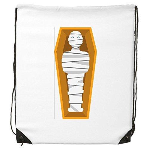 Kultur gelb Mummy Sarg Abstraktes Illustration Muster Kordelzug Rucksack feine Linien Shopping Creative Handtasche Schulter Umweltfreundliche Tasche aus Polyester (Sarg Handtasche)