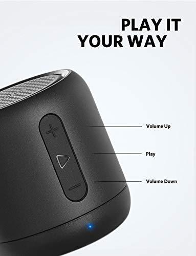 Anker SoundCore Mini Super Mobiler Bluetooth Lautsprecher Speaker mit 15 Stunden Spielzeit, 20 Meter Bluetooth Reichweite, FM Radio und Starken Bass (Schwarz) - 5