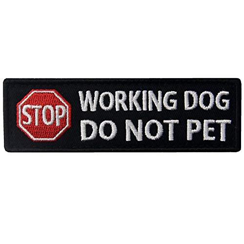 EmbTao Service Hund Arbeiten Nicht Pet Westen/Geschirre Bestickter Aufnäher mit Klettverschluss