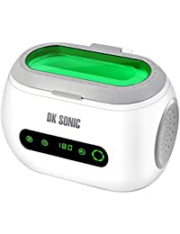 DK SONIC Mini Ultrasonic Cleaner 600ml 700mL 42KHz Sonic Cleaner with Digital Timer Basket for Jewelry,Ring,Eyeglasses,Denture,Watchband,Coins,Small Metal Parts etc